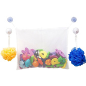 Bath Toy Organiser AnGeer Mesh Toy Storage Bag with Two Suction Cups