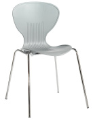 Blue Box Sienna Plastic Chair - Grey
