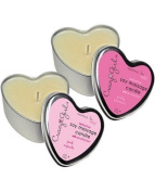 Bundle Crazy Girl Soy Massage heart candles 1 pink cupcake and 1 pretty plumeria