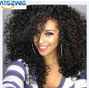 ATOZWIG Kinky Curly Afro Wig 60cm Long Kinky Curly Wigs for Black Women Black Hair Wig African American Synthetic Cheap Wigs for Women