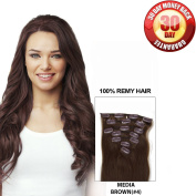 Clip in Hair Extensions by BELLAHAIR Full Head Human Hair Clip in Extensions