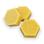 3 - 100% ORGANIC Hand Poured Decorative Beeswax Cakes - 30ml each - Premium Quality, Cosmetic Grade, Triple Filtered Bees Wax