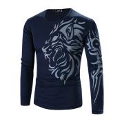 Mens Shirt,Neartime Men's Long Sleeve Tee Shirt Slim Lapel Tops T-shirt