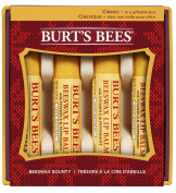 Burt's Bees Beeswax Bounty Holiday Gift Set, 4 Lip Balms in Gift Box, Classic