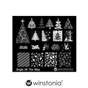 Winstonia Nail Art Stamping Image Plate - Jingle All The Way