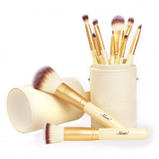 Matto Makeup Brushes Professional 10-Piece Golden Makeup Brush Set with Brush Holder