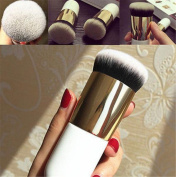 Togirl 1Pcs Pro Cosmetic Brush Foundation Powder Brush Blush Chunky Face Makeup Brushes Tool Gold