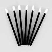 Mintbon 100 Disposable MakeUp Lip Gloss Wands Applicators Thin Black Handle Flocked Tip Lipstick