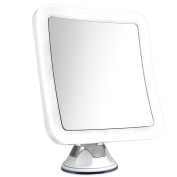 Charmax 8x Magnifying Lighted Makeup Mirror With Bag, Natural LED Lights Bathroom Vanity Mirror, Battery Operated Travel Mirror, Square