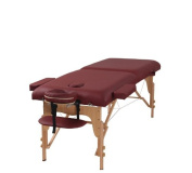 The Best Massage Table 7.6cm Burgundy Portable Massage Table - PU Leather High Quality - By Heaven Massage