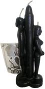 BLACK 15cm MAN & WOMAN BACK TO BACK BREAK UP SEPARATION CANDLE KIT Kit Vela Separación
