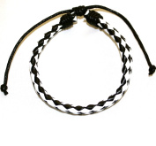 Black & White Leather Diffuser Bracelet/ Pure Essence Diffuser Bracelet/ Aroma Bracelet for Him or Her/ Friends Bracelets