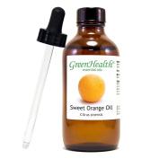 Sweet Orange – 4 fl oz (118 ml) Glass Bottle w/ Glass Dropper – 100% Pure Essential Oil – GreenHealth