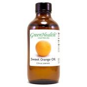 Sweet Orange – 4 fl oz (118 ml) Glass Bottle w/ Cap – 100% Pure Essential Oil – GreenHealth