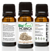 Biofinest Moringa Organic Oil - 100% Pure, Natural, Cold-Pressed - Premium Moisturiser - Soothe Acne, Psoriasis, Eczema, Dry Skins, Scars - FREE E-Book