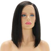 Ten Chopstics Unprocessed Brazilian Human Hair Wigs 9A Short Lace Front Wigs Bleached Knots Bob Virgin Hair for Black Women Natural Baby Hair in Stock