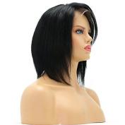 Ten Chopstics 9A Short Bob Brazilian Human Hair Wigs Lace Front Wigs Virgin Hair for Black Women Natural Baby Hair in Stock