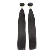 """OBeauty Grade 10A Straight Remy Human Hair Weft Two Mixed Inch 28""""30"""" in Natural Black Colour 2Bundles/Lot,200G"""