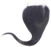 100% Hand Made Virgin Human Hair Lace Closure, Straight, Natural Colour, Free Part, Length 50cm