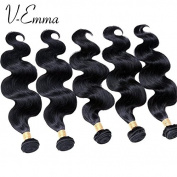 V-Emma 8A Brazilian Virgin Hair Body Wave Human Hair Weave 5 Bundles cheap 100% Brazilian Human Hair Extensions