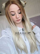Heahair Brown to Blonde Ombre Wigs Long Soft Lace Front Wig Natural Looking Synthetic wigs