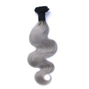 Carina Hair Body Wave 1B Grey Ombre Human Hair Extensions 1 Pcs