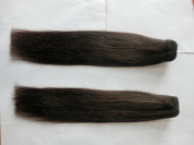 Shiny.V 46cm 120g/Set Clip in Hair Extensions Human Hair Very Soft Straight Hair Natural Colour