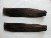 Shiny.V 46cm 120g/Set Clip in Hair Extensions Human Hair Very Soft Straight Hair Natural Colour