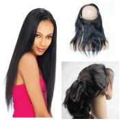 Derun Hair 8A grade Best Quality 100% Virgin Brazilian Human Hair 360 lace Frontal closure straight 22x 4x 2 36cm 360 degree natural colour free part lace frontal