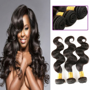 ALIMICE 6A Grade Malaysian Hair Bundles, 8-30 Inch Body Wave Hair 3 Bundles Mixed Length 95-100g/PC Unprocessed Human Hair Weave Natural Black Colour