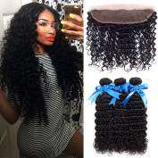 GEFINE Hair Brazilian Virgin Remy Body Wave Hair 3 Bundles 300g with 4x4 Lace Closure Human Hair Extensions Bundles with Free Part Closure