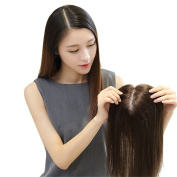 Remeehi Silk Base Human Hair Toppers for Thinning Hair Clip in Hairpiece for Women