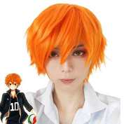 Rise Wold Wig 30cm Hinata Syouyou Anime Cosplay Costume Short Wigs Orange Wigs