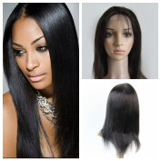 Derun Hair Best Quality 100% Unprocessed Virgin Brazilian Human Hair 130% Density full lace wig 30cm straight natural colour