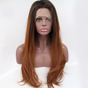 PlatinumHair #433 Ombre Straight Wigs Synthetic Lace Front Wigs Heat Resistant Synthetic Wigs 50cm - 60cm