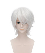 heat resistant fibre Short Straight White wig Ken Kaneki Tokyo Ghoul japan Anime Wigs for cosplay