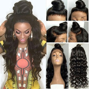Wavy Synthetic Lace Front Wig with Baby Hair for Women Natural Black Loose Wave Wigs Heat Resistant Fibre Hair 60cm