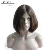 Cici Collection Short Jewish Full Lace Wig Straight #4 Colour Europeans Hair Full Lace Bob Wig Glueless Human Hair Lace Wig Short Bob Wig Best Quality