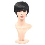 Secretgirl Fashion Elegant Short Wigs for Black Women Synthetic Wigs with Bangs