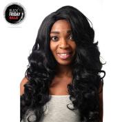 Secretgirl Long Black Wig Wavy Curly Hair Synthetic Daily Wigs for Black Women
