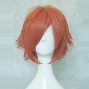 Sword Art Online Klein Tsuboi Ryotarou Orange 35cm Short Straight Cosplay Wig + Free Wig Cap