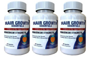 Hair Growth Essentials Pills Supplement For Hair Loss - Advanced Hair Regrowth Treatment With 29 Powerful Hair Growth Vitamins & Nutrients for Rapid Growth for Women and Men - 3 Bottles