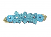Carefree Days Dainty Flowers Barrette with Rhinestones