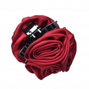 Mudder Ribbon Roses Hair Claw Jaw Clip Flower Hairpin Clip for Women Accessories