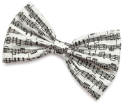 Musical Notes Hair Bow Clip Hair Accessory Handmade by Sweet in the City