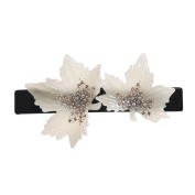 MS.CLEO Rhinestone Cellulose Acetate Medium Hair Clip-Maple Leaf Barrette for Womens Girl Lady