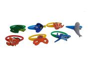 AVIRGO 7 pcs Colourful Releasable Ponytail Holder Elastic Rubber Stretchable No-slip Hair Tie Set # 113 - 7