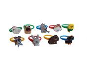 AVIRGO 9 pcs Colourful Releasable Ponytail Holder Elastic Rubber Stretchable No-slip Hair Tie Set # 118 - 7