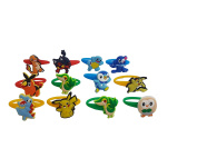 AVIRGO 12 pcs Colourful Releasable Ponytail Holder Elastic Rubber Stretchable No-slip Hair Tie Set # 116 - 7