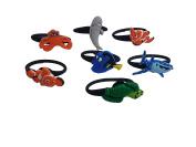 AVIRGO 7 pcs Releasable Ponytail Holder Elastic Rubber Stretchable No-slip Hair Tie Set # 113-6